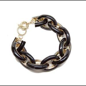 NWOT Black Enamel Link Bracelet